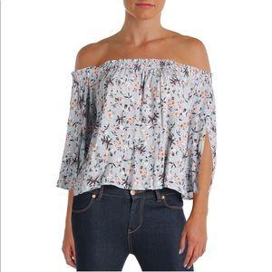 ASTR Annabelle floral off the shoulder top